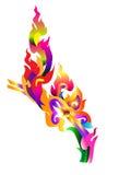 Draak Thaise kleurrijk Royalty-vrije Stock Foto