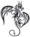 Draak, vleugels stock illustratie