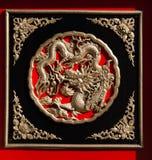 Draakachtergrond Royalty-vrije Stock Afbeeldingen