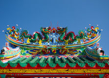 Draakbeeldhouwwerk Royalty-vrije Stock Foto's