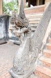 Draakbeeldhouwwerk in Ho Pra Keo Temple Vientiane Stock Foto