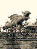 Draakbeeldhouwwerk in klagenfurt Oostenrijk Stock Afbeeldingen