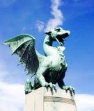 Draakbeeldhouwwerk in Slovenië Stock Afbeelding