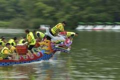 Draakboot het rennen. Royalty-vrije Stock Foto
