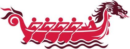 Draakboot het rennen pictogram Stock Afbeelding