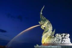 Draakfontein in Songkhla Thailand royalty-vrije stock foto
