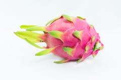 Draakfruit op witte achtergrond Royalty-vrije Stock Foto's
