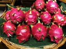 Draakfruit, Thais fruit stock afbeelding