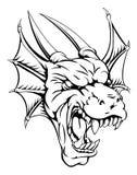 Draakmascotte vector illustratie