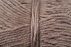 Drab Brown Yarn Texture Close Up. A super close up image of drab brown yarn Royalty Free Stock Photos