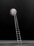 Drabina księżyc - 3D odpłacają się Zdjęcie Royalty Free