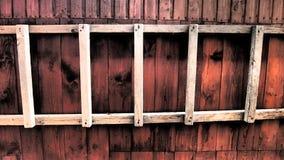 Drabina na ścianie stajnia Fotografia Stock