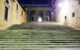 Drabina w świetle lampionów przy nocą Obraz Royalty Free