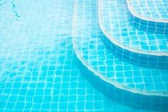 Drabina w basenie Zdjęcia Royalty Free