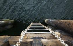 Drabina w ocean zdjęcie royalty free