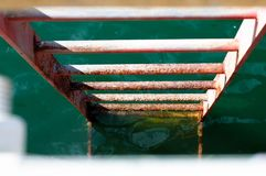Drabina w wodę Zdjęcia Stock