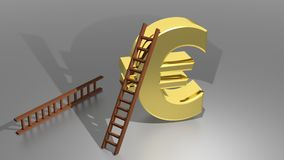 Drabina wspinać się Euro Fotografia Stock