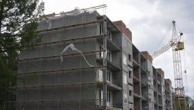 Drabinowa żurawia i budynku budowa zdjęcie royalty free