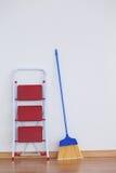 Drabinowa i ogólna miotła Fotografia Stock
