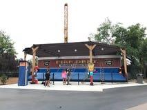 Drabinowa kraul gra przy Carowinds parkiem rozrywki Obraz Stock