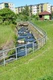 Drabinowa rybia przepustka o tamie BRANIEWO, POLSKA Fotografia Royalty Free