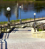 drabinowa spadek rzeka Fotografia Royalty Free