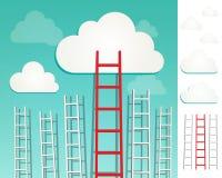 Drabiny chmury pojęcia set ilustracji