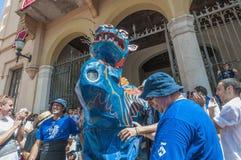 Drac figure at Festa Major in Sitges, Spain Royalty Free Stock Photos