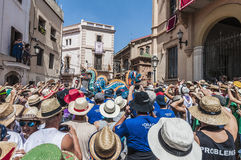 Drac figure at Festa Major in Sitges, Spain Stock Photo
