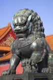 Drache-Bronzestatue verbotene Stadt Peking Lizenzfreies Stockbild