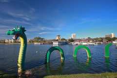 Drache an der Lego Zone von im Stadtzentrum gelegenem Disney Lizenzfreies Stockfoto