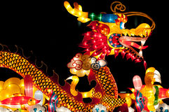 Drache-Laterne am Singapur-Laterne-Festival Lizenzfreie Stockfotografie