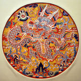 Drache-Medaillon, chinesische traditionelle Künste stockbilder