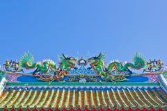 Drache mit blauem Himmel Lizenzfreie Stockbilder