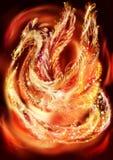 Drache-Phoenix, lizenzfreie stockfotografie