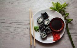 Drache rollt mit Kaviar Lizenzfreies Stockbild