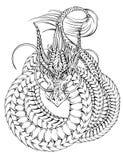 Drache-Tätowierung stock abbildung