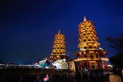 Drache-Tiger-Kontrollturm von Kaohsiung Lizenzfreie Stockbilder