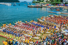 Drachebootsfestival-Rennen-Stanley-Strand Hong Kong Stockfotografie