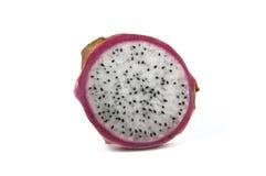Drachefrucht auf weißem Hintergrund Stockbilder