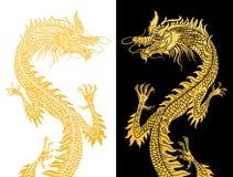 Drachen auf Schwarzweiss. Stockfotografie