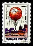 Drachen-Ballon, 1896, 200 Jahre bemannter Flug serie, circa 1983 Lizenzfreie Stockfotografie