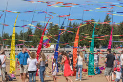 Drachen-Festival in St Petersburg Stockfotografie