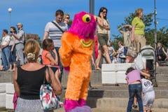 Drachen-Festival in St Petersburg Stockfotos