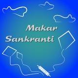 Drachen-Festivalvektor Makar Sankranti indischer lizenzfreie stockfotos