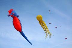 Drachen im Himmel - Freiheit Stockfotos