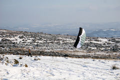 Drachen skiier Lizenzfreies Stockfoto