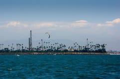 Drachen-Surfer-Long Beach Hafen Lizenzfreies Stockbild