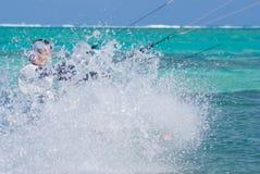 Drachen-Surfer (Spritzen-Zone) Stockbild