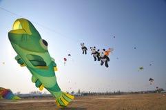 Drachen und Ballon Stockbild